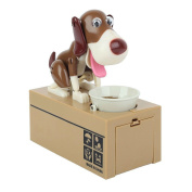 OliaDesign My Dog Piggy Bank - Robotic Coin Munching Toy Money Box