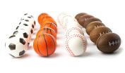 Set of 24 Sports 6.4cm Stress Balls - Includes Soccer Ball, Basketball, Football, Baseball Squeeze Balls For Stress Relief, Party Favours, Ball Games and Prizes, Stocking Stuffers - Bulk 2 Dozen Balls