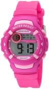 Armitron Sport Women's 45/7070MAG Light Pink Accented Digital Magenta Resin Strap Watch