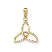 14K Yellow Gold Celtic Triquetra Charm Pendant