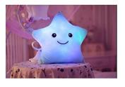 Colourful LED Luminous Stars, LED Light Pillow, Plush Pillow, Cushion for Kids