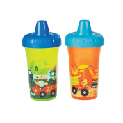 The First Years Simple Sippy Cup - 270ml, 2 pack, Orange and Green