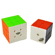Vdealen Speed Cube Set, Includes 2x2 3x3 Stickerless Magic Cube Puzzle