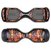 MightySkins Protective Vinyl Skin Decal for Swagtron T1 Hover Board Self Balancing Smart Scooter wrap cover sticker skins Hot Flames