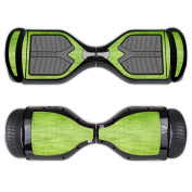 MightySkins Protective Vinyl Skin Decal for Swagtron T1 Hover Board Self Balancing Smart Scooter wrap cover sticker skins Green Fabric