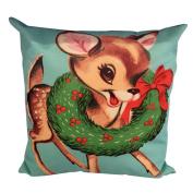 DEESEE(TM) Christmas Both Side Pillow Case Sofa Waist Throw Cushion Cover Home Decor
