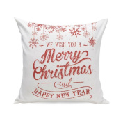 DEESEE(TM) Christmas Super SoSquare ft Throw Pillow Case Decorative Cushion Pillow Cover