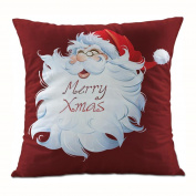 DEESEE(TM) Christmas Santa Claus Pillow Case Sofa Waist Throw Cushion Cover Home Decor
