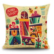 DEESEE(TM) Christmas Cotton Linen Pillow Case Sofa Cushion Cover Home Decor
