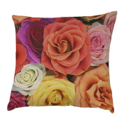 DEESEE(TM) Pillow Case Colourful Rose Printing Dyeing Sofa Bed Home Decor Pillow Cover Cushion Cover