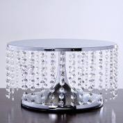 Breathtaking Crystal Pendants Metal Chandelier Wedding Cake Stand - 19cm Tall