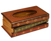 Tosnail Elegant Wooden Antique Book Tissue Holder Dispenser / Novelty Napkin Holder