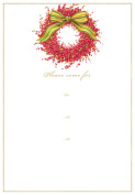 Entertaining with Caspari Berries and Bow Fill in Invitations with Envelopes (Pack of 8), Red