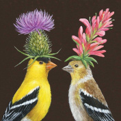 Paperproducts Design Paper Vicki Sawyer Goldfinch Couple Luncheon Napkins
