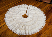 Deluxe Crème Burlap Mini Tree Skirt