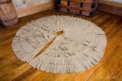 Deluxe Burlap Natural Tan Tree Skirt