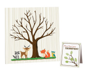 Lillian Rose Woodland Baby Shower Guest Signing Canvas, Neutral, 30cm