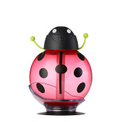 Han Shi Humidifier, 260ml Cute Beatles Aroma Humidifiers, Essential Oil Diffuser, with LED Colour Night for kids/Adults