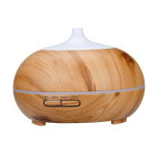 Humidifier LED Essential Oil Aroma Diffuser Ultrasonic Wooden Humidifier Air Aromatherapy Atomizer