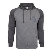 Real Madrid Hoodie Fz Summer Light Zip up Jacket Grey Adults