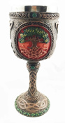 Celtic Cosmic Sacred Tree of Life Fertility & Immortality Wine Drink Goblet Chalice Figurine