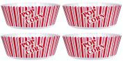 Popcorn Serving Bowl Set of 4 - Large Size 25cm X 12cm - Popcorn Tub