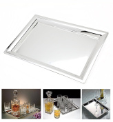 Elegant Mirrored Rectangular Silver Tray, Mirrored for Whiskey Decanter,candle Sticks,vanity set, and Serving