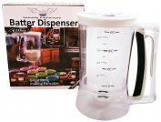 Pancake Batter Dispenser - Great Gift Ideas- Easy Pour Kitchen Batter Dispenser with Measureing Label, Perfect Food Gadgets for Pancake, Cupcakes, Waffles, Cakes, Muffins, Crepes, Donuts, Baked Goods
