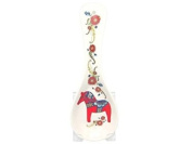 Essence of Europe Gifts Ceramic Kitchen Spoon Swedish Rest Red Dala Horse