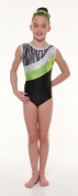 Gym 43 Foiled Nylon Lycra and Shine Tappers & Pointers Gymnastic Leotard