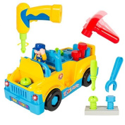 Liberty Imports Fun Building Multifunctional Take Apart Toy Tool Truck with Electric Drill and Tools by Liberty Imports