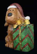 TII Collections Dog with Gift Christmas Figurine