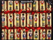 20cm X 25cm English Christmas Crackers By Robin Reed - Nutcrackers on Gold
