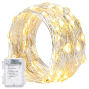 8 Modes String Lights,Oak Leaf 6m 60 LEDs Waterproof Super Bright LED Fairy Starry Lights For Bedroom Party Patio Christmas,Remote Control,Battery Powered,Warm White