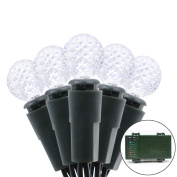 Vmanoo G12 Battery Operated String Lights 50 LED Fairy Christmas Lighting Decor Timer For Outdoor Indoor Garden Patio Lawn Holiday Wedding Decorations