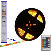 String Lights , Epoxy Waterproof RGB LED 3528 SMD Rope Light with Remote Controller, 60 LED/M, Length