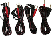 """Syrtenty 45"""" Replacement TENS unit 3.5 mm Lead Wires - 4 Pack"""
