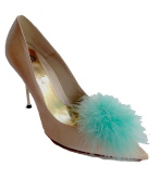 Pom Pom Feather Shoe Clips