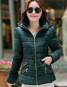 YRF/ Women's Keep Warm Solid Colour Hooded Down Coat