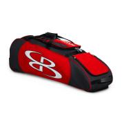Boombah Spartan Rolling Baseball / Softball Bat Bag - 100cm x 30cm - 1.3cm x 30cm - Black/Red - Holds 4 Bats and Much More