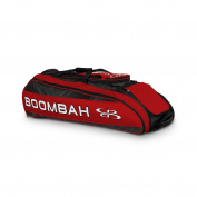 Boombah Beast Baseball / Softball Bat Bag - 100cm x 36cm x 33cm - Black/Red - Holds 8 Bats, Glove & Shoe Compartments