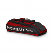 Boombah Beast Baseball / Softball Bat Bag - 100cm x 36cm x 33cm - Red/Black - Holds 8 Bats, Glove & Shoe Compartments