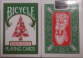 Bicycle 245 Green Deck Red Santa Maiden Back Playing Cards by Bicycle