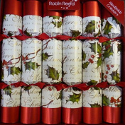 30cm X 25cm English Christmas Crackers By Robin Reed - Ribbon and Bows
