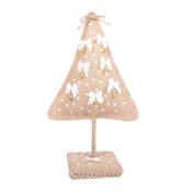 UEETEK Christmas Tree Ornament Rustic Christmas Decor Fabric Ornaments Burlap Jingle Bell Tree Party Favours