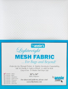 By Annie PBA02034 Light Weight Mesh Fabric, 46cm by 140cm , White