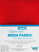 By Annie PBA02029 Light Weight Mesh Fabric, 46cm by 140cm , Atom Red