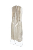 Garment Bags for Storage, Clear Extra Large Wedding Gown Zipper Garment Bag, 180cm Long, 50cm Gusset Expansion by Tuva Inc.