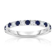 Noray Designs 14K White Gold Blue Sapphire & Diamond (0.30 Ct, H-I Colour, I1-I2 Clarity) Ring
