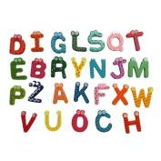 Transer® Toys for Kids - 26 Letters Wooden Cartoon Fridge Magnet- Children Learning Education Toy Gift